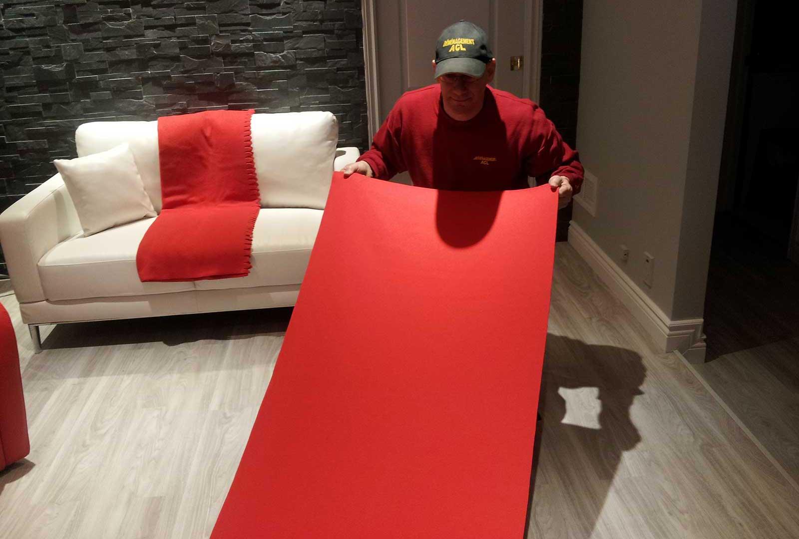 Déménageur protection des planchers